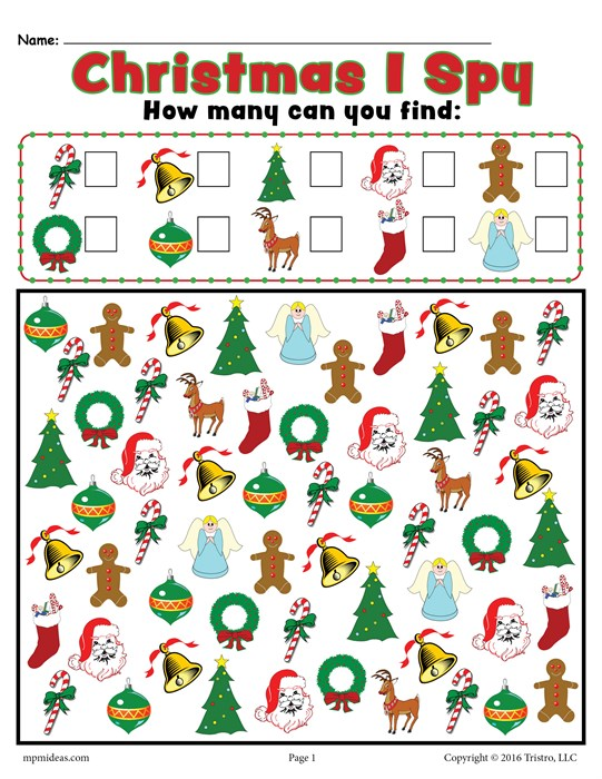 Christmas I Spy Activity