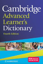 Cambridge Advanced Dictionary cover